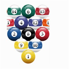 Racked Billiard Pool Balls Large Garden Flag (two Sides)