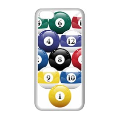 Racked Billiard Pool Balls Apple Iphone 5c Seamless Case (white)