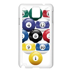 Racked Billiard Pool Balls Samsung Galaxy Note 3 N9005 Case (white)