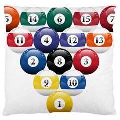 Racked Billiard Pool Balls Standard Flano Cushion Case (one Side)