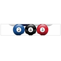 Racked Billiard Pool Balls Flano Scarf (large)