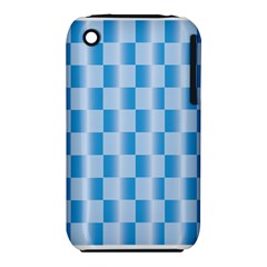 Blue Plaided Pattern Iphone 3s/3gs