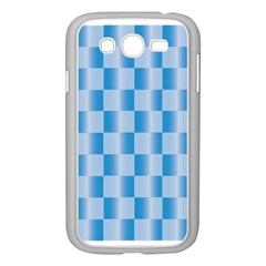 Blue Plaided Pattern Samsung Galaxy Grand Duos I9082 Case (white)