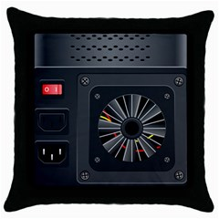 Special Black Power Supply Computer Throw Pillow Case (black)