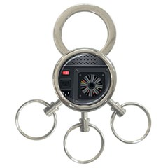 Special Black Power Supply Computer 3 Ring Key Chains