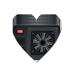 Special Black Power Supply Computer Heart Magnet