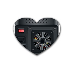 Special Black Power Supply Computer Rubber Coaster (heart)
