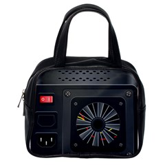 Special Black Power Supply Computer Classic Handbags (one Side)