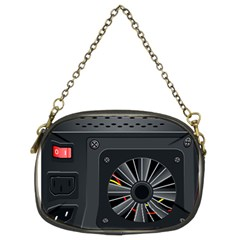 Special Black Power Supply Computer Chain Purses (two Sides)
