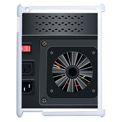 Special Black Power Supply Computer Apple Ipad 2 Case (white)