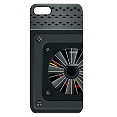 Special Black Power Supply Computer Apple Iphone 5 Hardshell Case With Stand