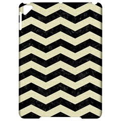 Chevron3 Black Marble & Beige Linen Apple Ipad Pro 9 7   Hardshell Case