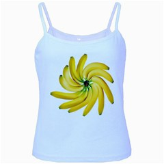 Bananas Decoration Baby Blue Spaghetti Tank