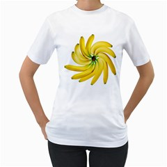 Bananas Decoration Women s T Shirt (white) (two Sided)