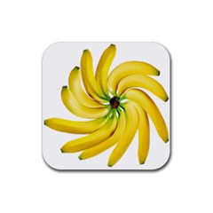 Bananas Decoration Rubber Square Coaster (4 Pack)