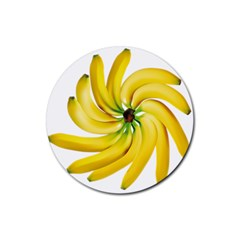 Bananas Decoration Rubber Coaster (round)
