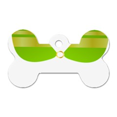 Green Swimsuit Dog Tag Bone (one Side)