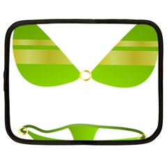 Green Swimsuit Netbook Case (large)