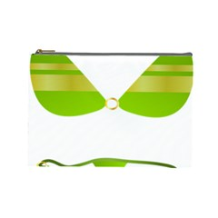 Green Swimsuit Cosmetic Bag (large)