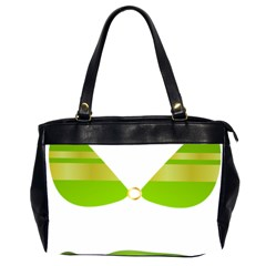 Green Swimsuit Office Handbags (2 Sides)