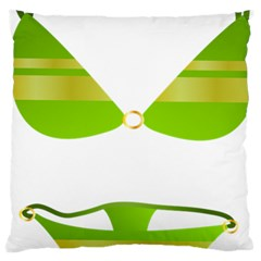 Green Swimsuit Large Cushion Case (one Side)