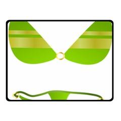 Green Swimsuit Double Sided Fleece Blanket (small)