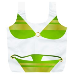 Green Swimsuit Full Print Recycle Bags (l)