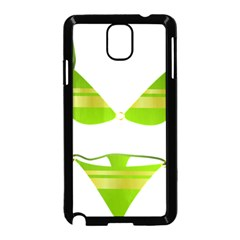 Green Swimsuit Samsung Galaxy Note 3 Neo Hardshell Case (black)