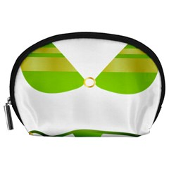 Green Swimsuit Accessory Pouches (large)