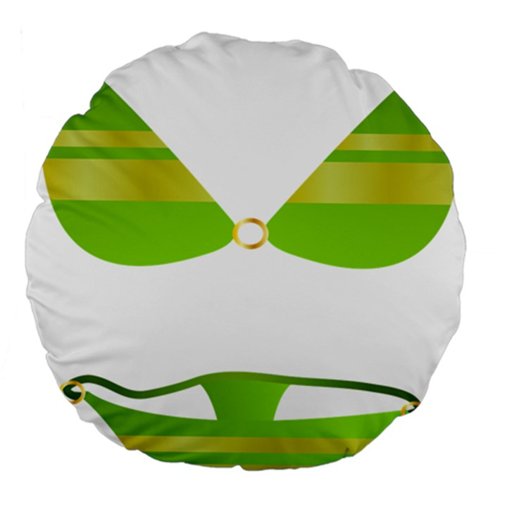 Green Swimsuit Large 18  Premium Flano Round Cushions