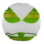 Green Swimsuit Large 18  Premium Flano Round Cushions Back