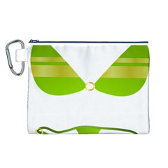 Green Swimsuit Canvas Cosmetic Bag (l)