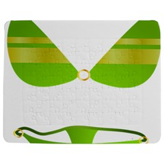 Green Swimsuit Jigsaw Puzzle Photo Stand (rectangular)