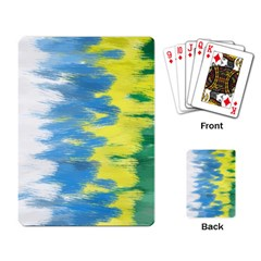 Brazil Colors Pattern Playing Card