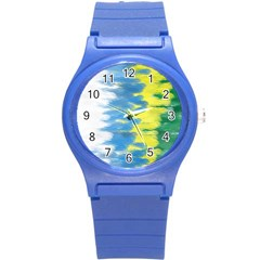 Brazil Colors Pattern Round Plastic Sport Watch (s)