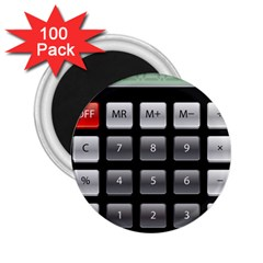 Calculator 2 25  Magnets (100 Pack)