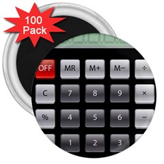 Calculator 3  Magnets (100 Pack)