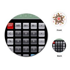 Calculator Playing Cards (round)