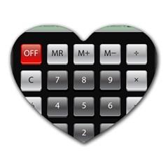 Calculator Heart Mousepads