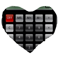 Calculator Large 19  Premium Heart Shape Cushions