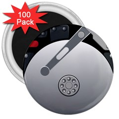 Computer Hard Disk Drive Hdd 3  Magnets (100 Pack)