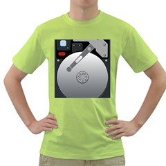 Computer Hard Disk Drive Hdd Green T Shirt