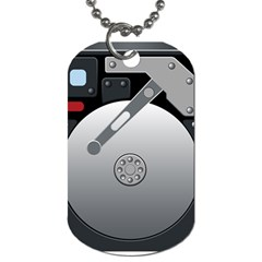 Computer Hard Disk Drive Hdd Dog Tag (one Side)
