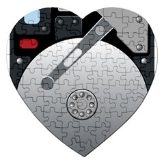 Computer Hard Disk Drive Hdd Jigsaw Puzzle (heart)
