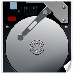 Computer Hard Disk Drive Hdd Canvas 20  X 20