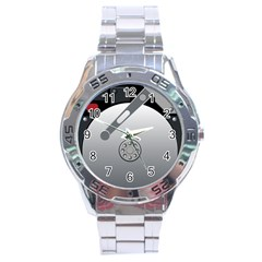 Computer Hard Disk Drive Hdd Stainless Steel Analogue Watch