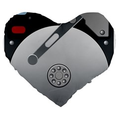 Computer Hard Disk Drive Hdd Large 19  Premium Heart Shape Cushions