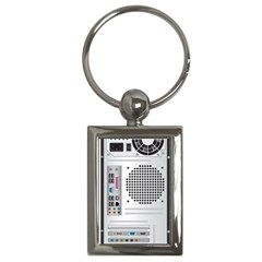 Standard Computer Case Back Key Chains (rectangle)
