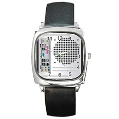 Standard Computer Case Back Square Metal Watch