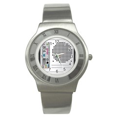 Standard Computer Case Back Stainless Steel Watch